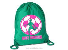 Soccer sport pack cinch sack soccer drawtring bag