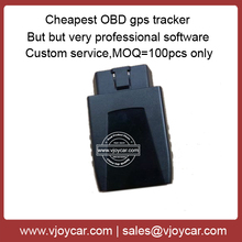 New! China cheapest obd2 sim card gps tracker with diagnostic function and free but professional software supporting!