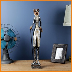 The new full promotions gentleman Mr. Dog European style resin ornaments crafts creative window display