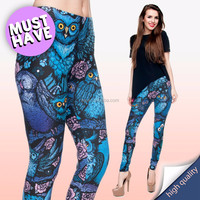 10pcs selling New Latest factory wholesale color legging modern fashion OWL NIGHT sexy leggings for ladies fashion wear