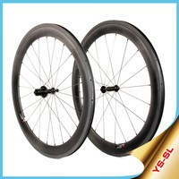 2015YISHUN Bike China Factory Chosen Hub+Pillar1420 Spoke+700C Road Bicycle 60mm Clincher Carbon Wheels 1520g Light Weight SL60C