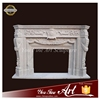 Marble indoor used fireplace western style fireplace mantel