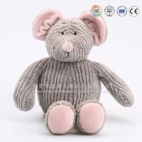 Stuffed plush toy gray mouse wholesale