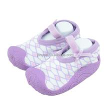 Hot sales custom wholesale organic cotton fruit jacquard baby socks like shoe with low price