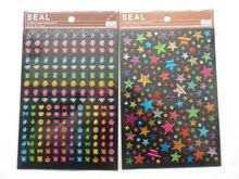 christal sticker dot and number epoxy sticker