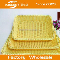 China factory direct wholesale Bread displaying customized size plastic storage baskets discount