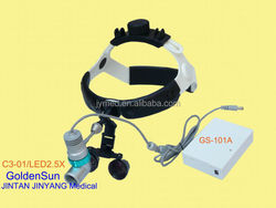 ENT surgery instrument led magnifying glass with headlight