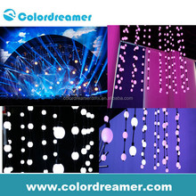 addressable 360 degree rgb led sphere light dmx control /3d dmx pixel ball