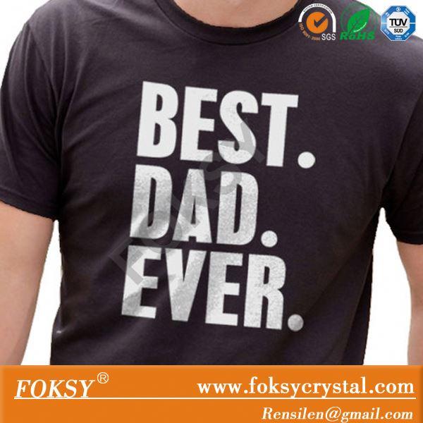 최고의 아빠 이제까지 아버지의 반짝이 철 전송 티셔츠