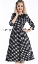 walson instyles wholesale VINTAGE 1950'S ROCKABILLY Polka Dot PIN UP FORMAL SWING PROM DRESS