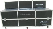 Heavy Duty small aluminum tool case with wheels,Interior with 25mm Thickness Anti-Static EVA Foam,aluminum flight case