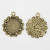 RS-1015T Hot sale 18mm antique bronze colour nickel free lead free metal alloy jewelry findings