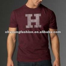 Wholesale custom design school uniform cotton printed t shirts
