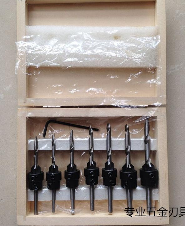 Купить Сверло зенковки сверло 22 шт. комплект ж / чехол деревообрабатывающий инструмент