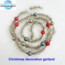 Vintage tinsel & beads decorated mini tinsel garland manufacturer