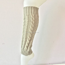 Good quality funky leg warmer for women girls cheap wool leg warmers hand knitted ladies long boot socks