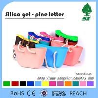 Beautiful and Fashion design Silicone Handbag,Silicone material Lady Shopping Shoulder Bag