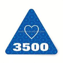Hot sale Blue and Aqua Modern THANK YOU V8 Triangle Stickers anti radar sticker