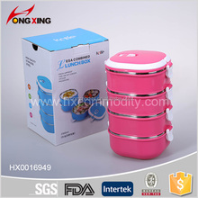2900ml 4layer square stainless steel bento lunch box with handle