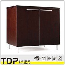 short office furniture File wooden Cabinet and shelves with wheels