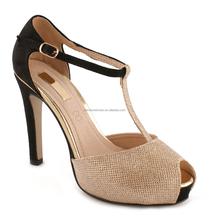 European fashion T-strap peep toe high heel shoes Party Shoes European Design OEM Brand