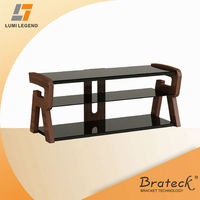 Letter Furniture Wood and Glass TV Stand