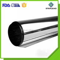 Vacuum metallizing plastic PET film for decorative use with barrier property