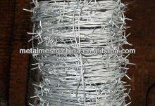 Hot!!! hot sale high quality barbed wire/galvanized steel coiled barbed wire