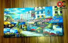 WK-64 Most Popular Group 36x48 Canvas Street Scenery Oil Painting