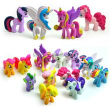 Plastic Mini Horse Figure Toy My Little Pony Plastic Figurine Toy Cartoon Pony Model
