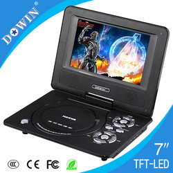 Factory Sale Mini 7 inch TFT Screen Portable DVD/VCD/CD Player with Low Price