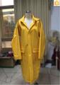 Manteau de pluie de pvc, long capuchon de pvc poncho imperméable