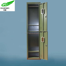 Top quality knock down 2 tier green army storage cabinet