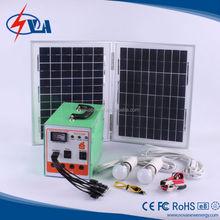 mini type household lighting system solar power
