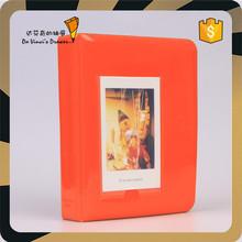 Orange Color Fashion Design Gloss PVC Cover Photo Album for 6*8.5cm photo