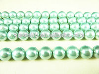 Professional custom and wholesale 6mm LightCyan south sea shell pearl beads loose strands