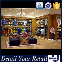Modern boutique equipment for retail store shoe fabric shelving