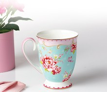 Hot selling English- style bone China elegant design coffee cup and saucer set