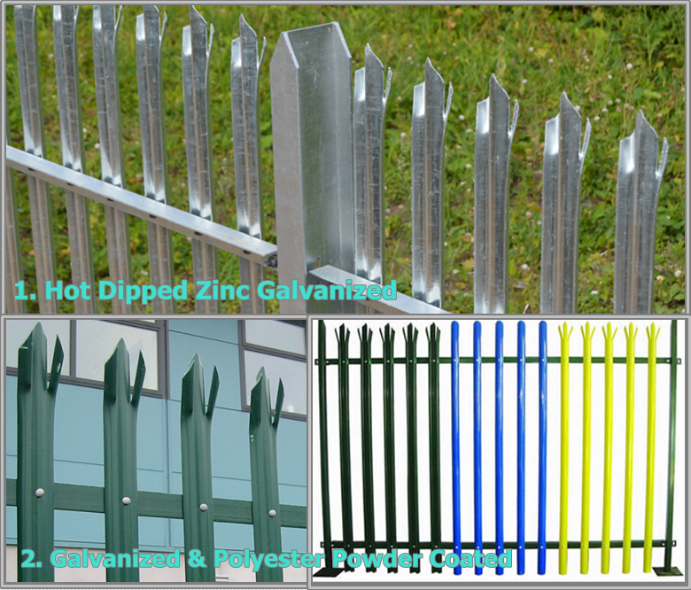 Triple pointed and splayed steel palisade fence and gate 5.png