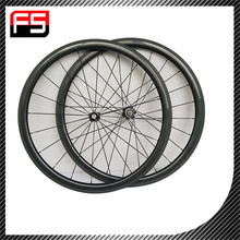 CHINA OEM 100% carbon road bicycle wheels, top grade carbon tubular road bike wheelset on sale