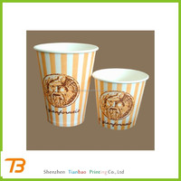 custom delicate cheap bulk disposable paper tea and cold drink cups wholesale