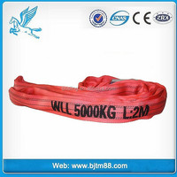 polyester webbing round sling/ lifting belt for the USA market from china manufacturer