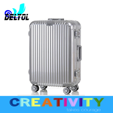 Factory outlet PC aluminum luggage trolley with telescopic handle