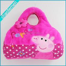 2015 hot sale Plush Pink Pig handbag