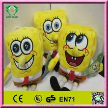 Hot!!! HI CE best seller Promotional plush stuffed cute sponge bob toy