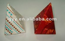Beautiful red/strip pattern triangle paper gift box/packaging box