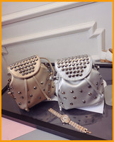 2015 summer new design rivet style lady fashion backpack bags