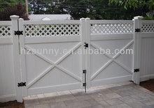 nuevo estilo de pvc puerta de la cerca