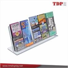 acrylic brochure holder 5 pocket,acrylic brochure holder/magazine holder