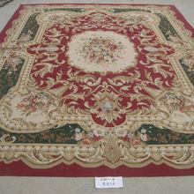 Genuine Chinese Plush Pile Aubusson Oriental Handmade Area Wool Rug